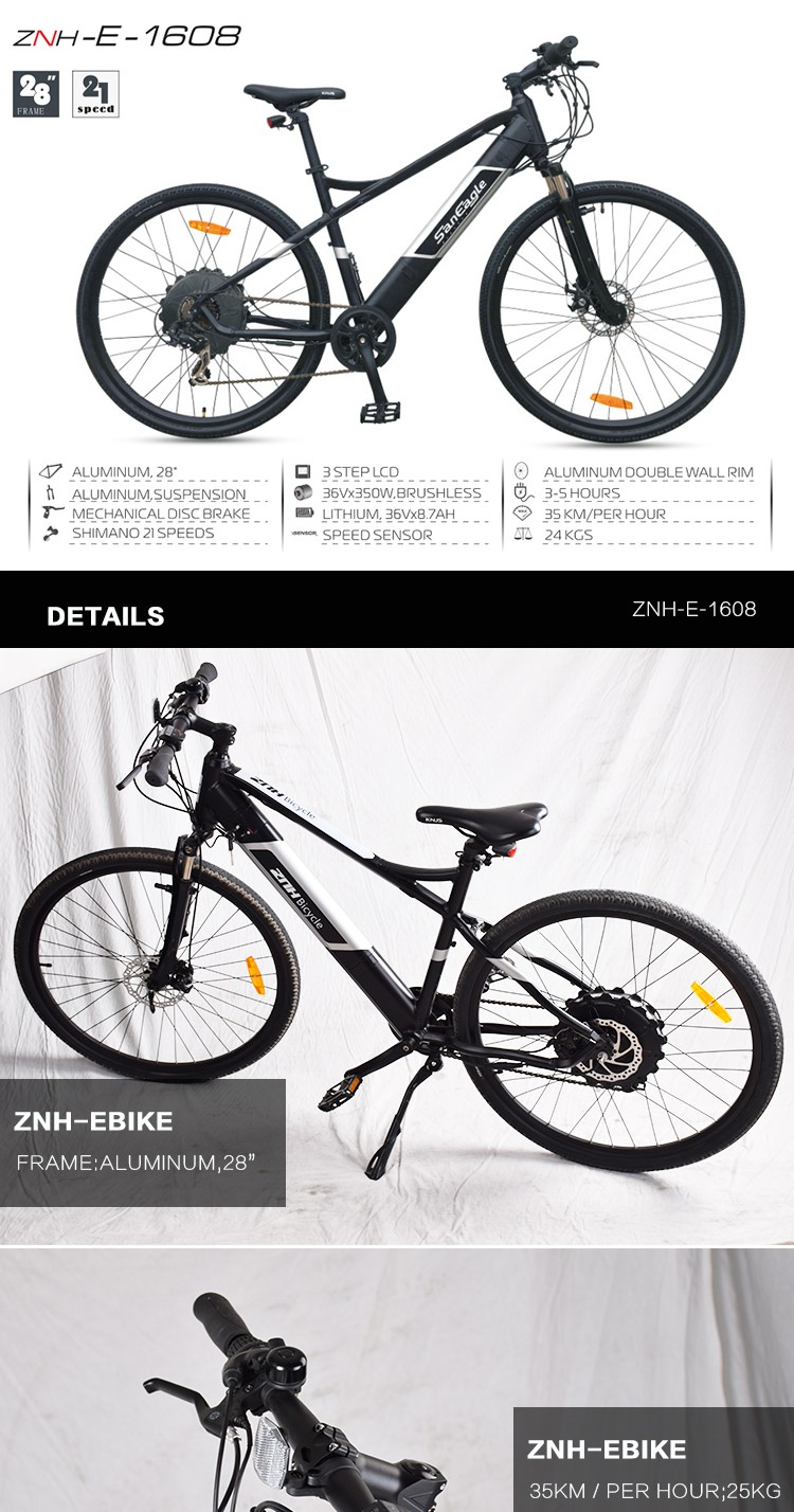 mountain e bike ebike 36vx350W brushless