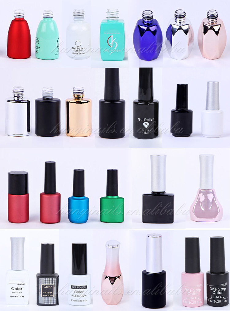 Bulk 6colors Uv Led Nail Polish Extension Builder Gel Acrylic Liquid Clear