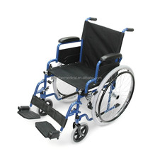 portable folding steel wheelchair