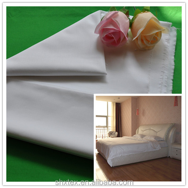wholesale 30% polyester 70% cotton hotel bed sheet fabric