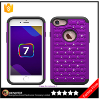 Glitter bling case cover Pc+tpu back cover Sparkle diamond phone case for iphone 7