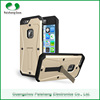Wholesale mobile phone cases TPU+PC+PET 3 in 1 Armored Tank case with kickstand waterproof back cover For iPhone 6s / 6s Plus