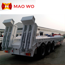 Hot sale 60 tons tri-axle low bed semi trailer dimensions
