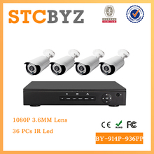 Economic 1080P Outdoor 2MP IP POE cctv kit