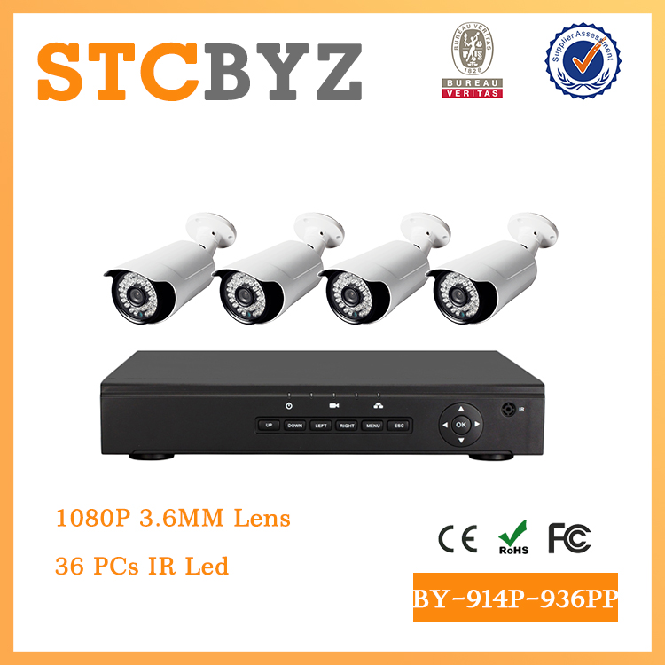 Hot Sell POE 1080P cctv Outdoor 2MP IP Camera kit