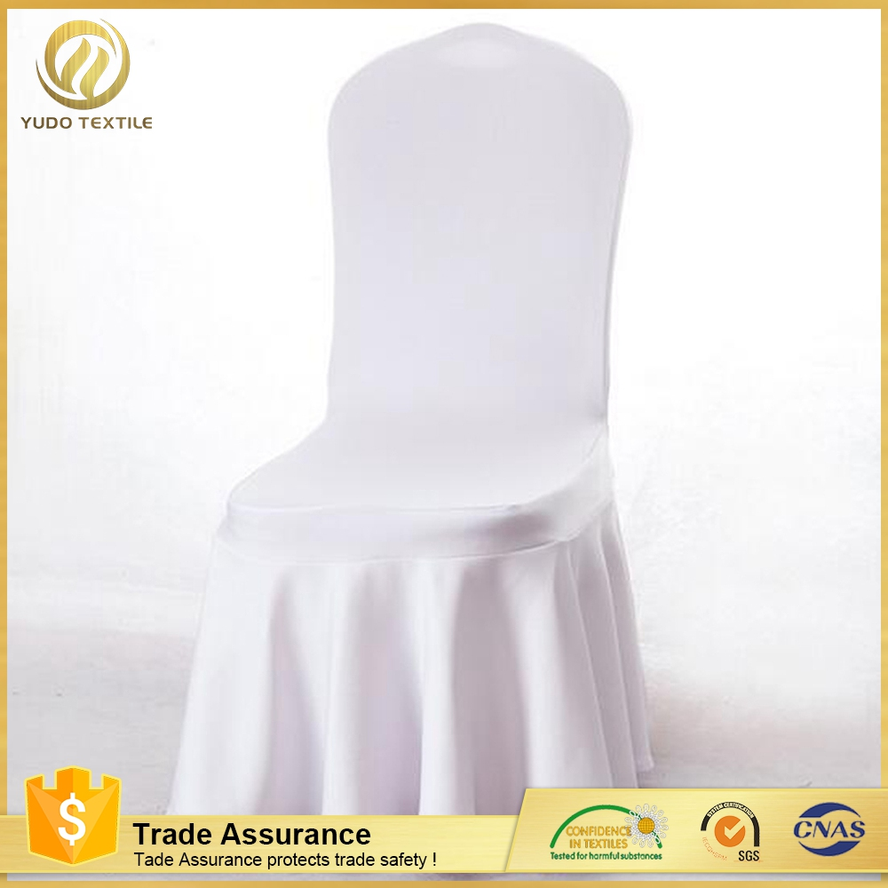 great quality White Color Wedding Chair satin chair cover