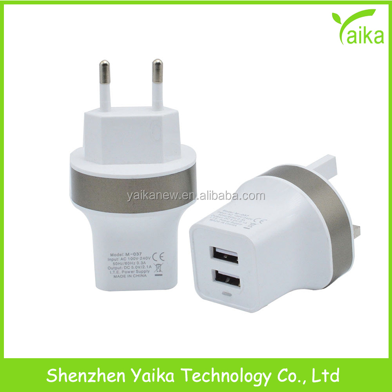 5V 2.1A Universal Travel USB Charger Adapter <strong>Wall</strong> 3 usb port Portable EU US Plug Mobile Phone Smart Charger for iPhone Tablet