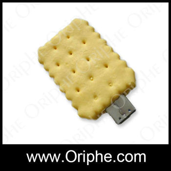 2014 PVC products,special biscuit shape usb flash swivel drive