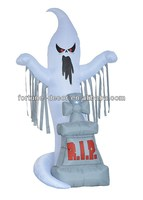 240cmH/8ft inflatable Halloween decoration tombstone with ghost