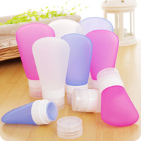 China manufacturer TSA custom logo airless soft squeeze silicone travel metal toiletry bottle