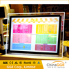 Wall mounted acrylic crystal led photo frame light box for office store sign display led light poster box