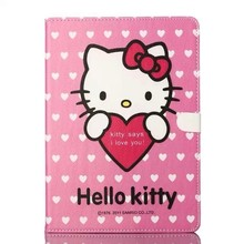 Popular Cartoon Hello Kitty Pu Leather Case For iPad Air