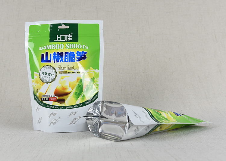 Dongguan supply food grade SGS certificated food plastic bag with zipper