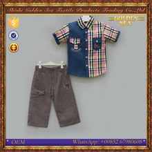 Bulk latest design cotton summer boys teen clothing