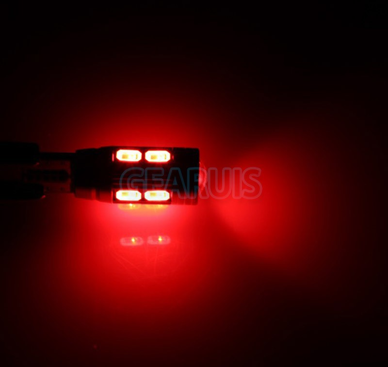 12v LED lights W5W T10 10 smd 5730 5630 LED 10SMD 194 168 501Auto parking light Red Blue White Green Pink clearance light