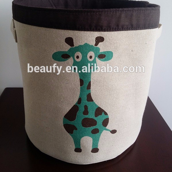 kids storage boxes animal printing basket storage basket