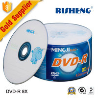 RISENG 8x 4.7GB 120MINs blank cd/dvd cake box spindle -50/blank dvd sample free printing surface/dvd cd 50pcs bulk