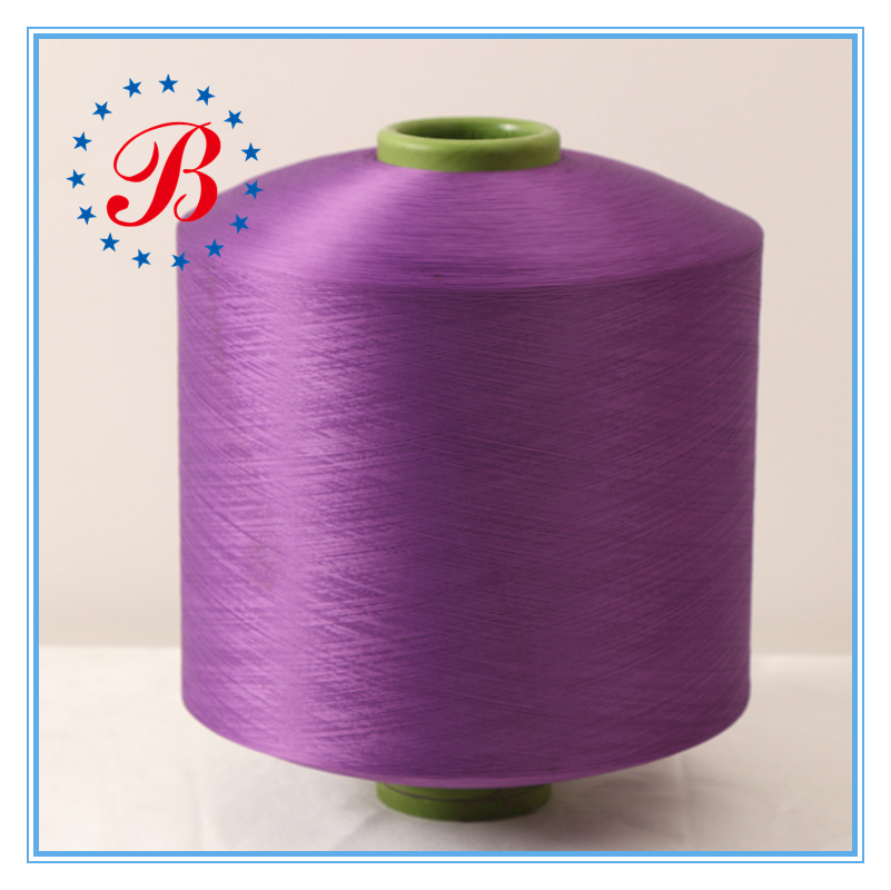 Factory Supplier Eco Friendly Dyed Polyester Yarn For Clothes, Socks, Curtains Great Sell Semi Dull HIM 150D/48F DTY