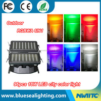 Outdoor building projector IP65 rgbwa uv 6in1 led city color light