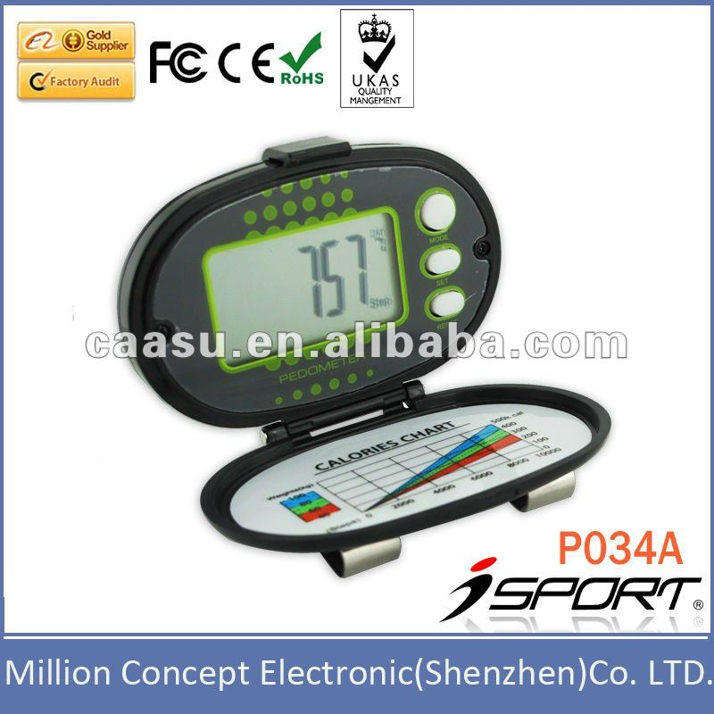 Low cost Pedometer multi function flip cover pedometer