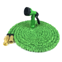 [GREENLAND] 2019 hot Sale Magic Expandable Hose Pipe Garden Water Hose Retractable garden hose with Brass Fitting with Spray Gun
