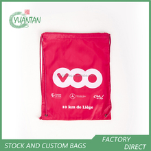 Custom company logos promotional backpack drawstring bag cheap advertising shopping bag