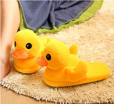 Hot Sales Yellow Duck Slipper Hotel Slipper Plush Slippers Shoes for Kids