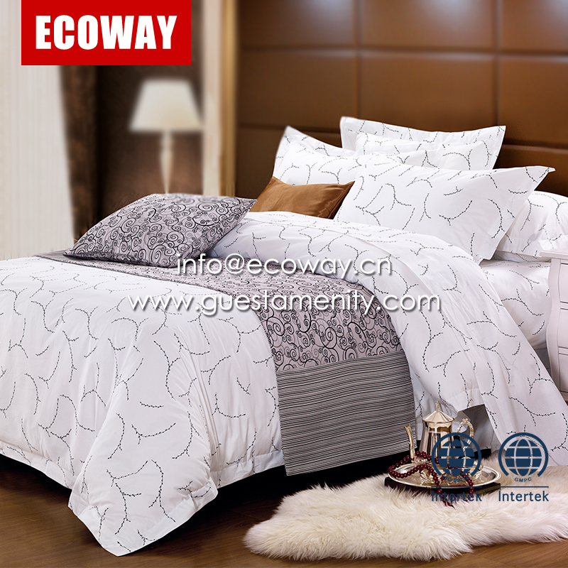 best sale 100% Cotton Hotel Bedding Set Used Single Bed Sheets