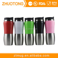 Peanut shape colorful pretty promotional stainless steel coffee travel mug with lid