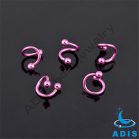 Jewelry Wholesale Jewelry In Malaysia Pink S Shape Nose Ring Piercing