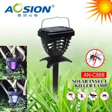 electric fly insect Killer Lamp + Solar Garden Light 3-in-1