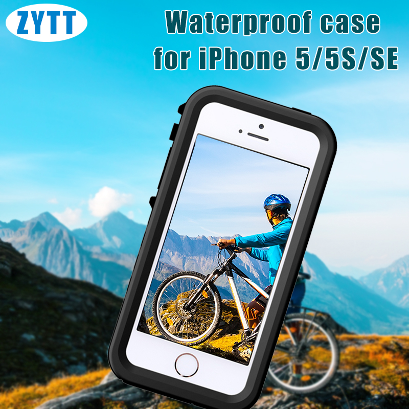 IPX8 rating TPU meterial Waterproof Protective Case for iphone 5 5s se with Lanyard