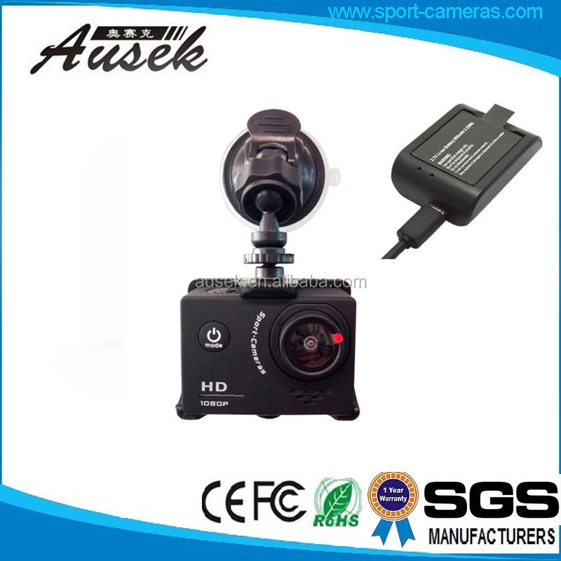 Shenzhen OEM/ODM factory 12MP waterproof 1080p fhd car camera outdoor video recorder 900mA rechargable battery