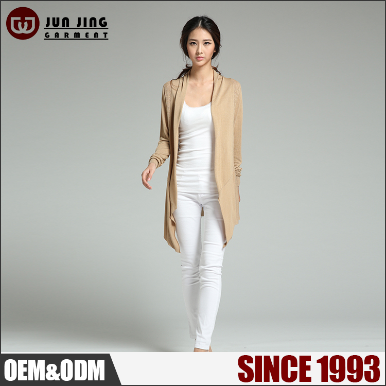wholesale hot-selling promotional soft long sleeve cardigan lady sweater