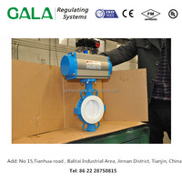 china pneumatic actuator for PTFE seal butterfly valve