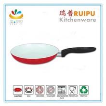 Fashion red Round non-stick wok,fry pan with bakelite handle,aluminium non-stick fry pan parini cookware happy call