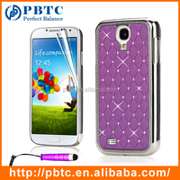 Set Screen Protector Stylus And Case For Samsung Galaxy S4 I9500 , Purple Bling Cover For Samsung Galaxy S4