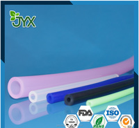Extrusion colored latex rubber tubing