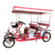 Best-selling Park Sightseeing 4 Person Surrey Bike Family Fun Pedal Electric Four Person Tandem Bike for Sale