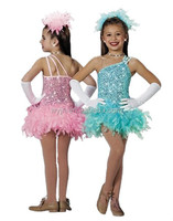 Feather Wear Skirt dance Costumes Tutu for girls