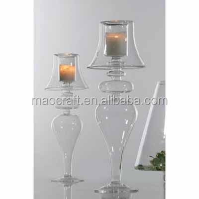 old world style lamp shaped votive glass candleholder