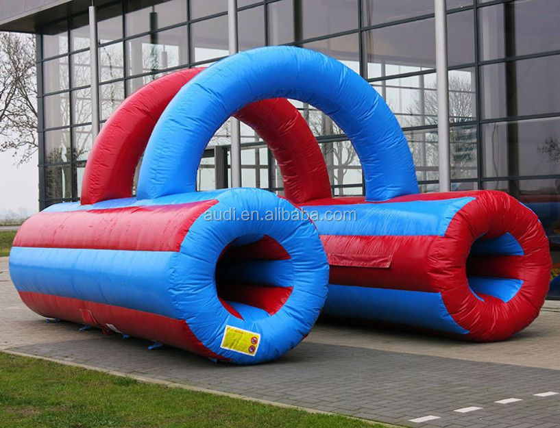 Cheap custom kids inflatable tunnel game for sale
