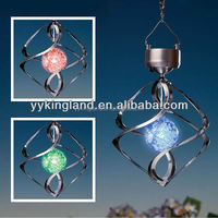New solar windbell light led ball light led hangging lightshinning decorated light#4051