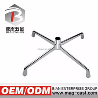 Professional Manufacturer polishing or chrome metal 5-star chair base