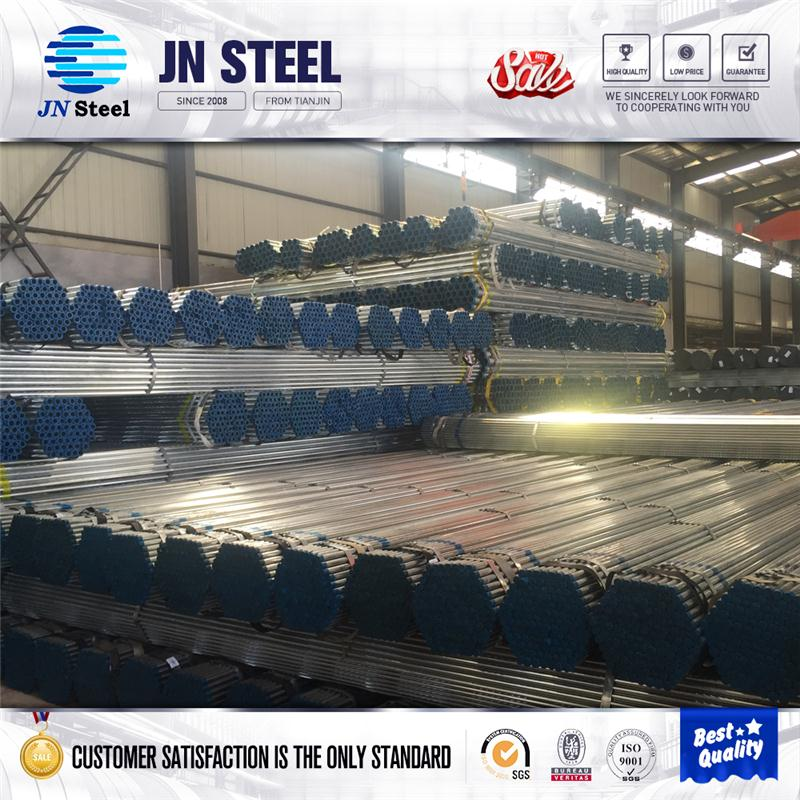 Hot selling round section galvanized steel pipe with high quality