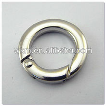 silver Round Gate Ring strap ring