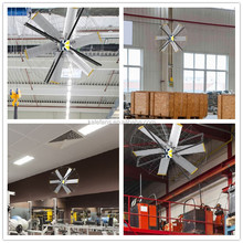 2.0M Copper Coil Brushless DC Motor Industrial Fan On Wall for Warehouse