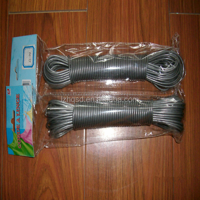 PVC plastic Clothesline rope WITH wire core/ pp multifilament/ twisted rope