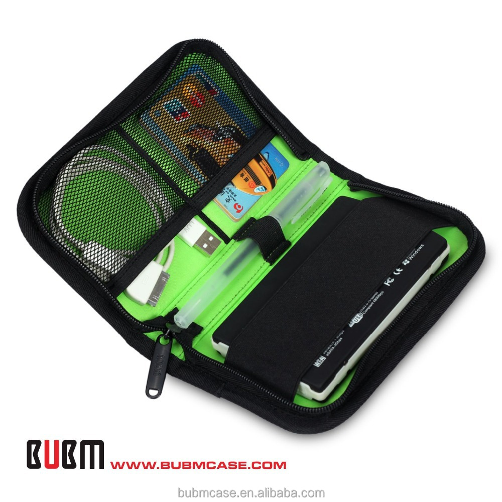 BUBM Portable Electronic Accessories Travel Organizer Case/Hard Drive Bag/Cosmetic package/Card holder/Tool KIT Wholesale/Retail
