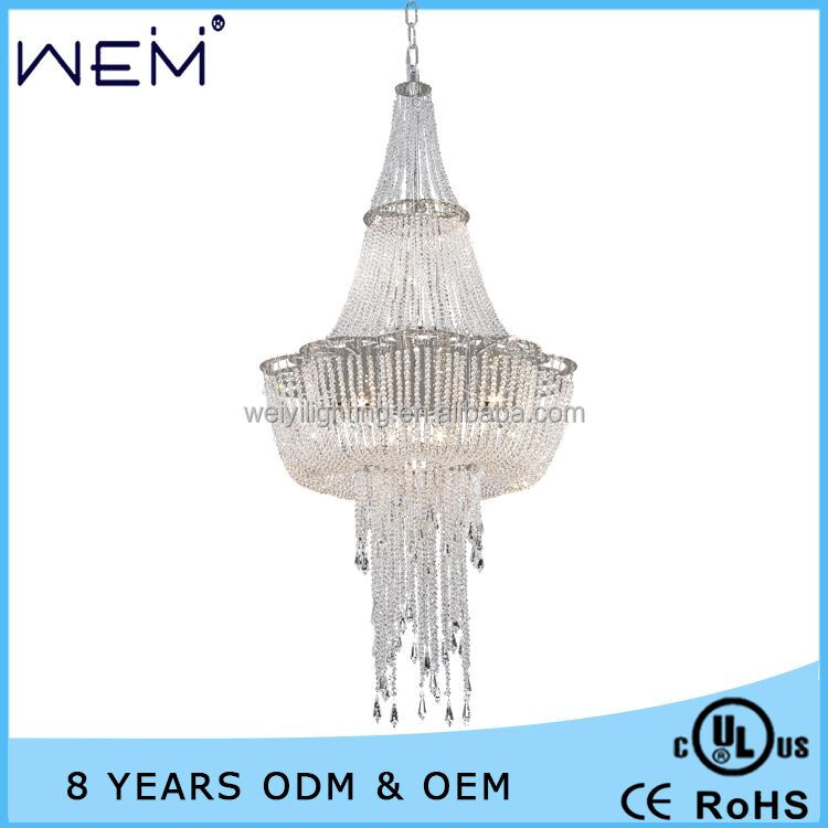Luxury hotel / restaurant interior decoration lighting & lamps/crystal chandeliers